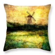 Turning Windmill Throw Pillow