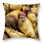 Turnip On Display At Farmers Market Throw Pillow