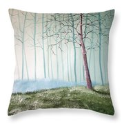 Turqouise Mist Throw Pillow