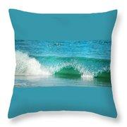Turquois Waves  Throw Pillow