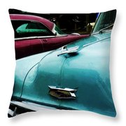 Turquoise Bel Air Throw Pillow