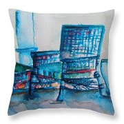 Turquoise Check In Throw Pillow