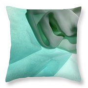 Turquoise Cloud Throw Pillow