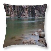 Turquoise Colorado River Throw Pillow