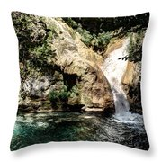 Turquoise Forest Pond On A Summer Day No2 Throw Pillow