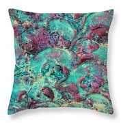 Turquoise 3d Sculpting Abstract Painting Throw Pillow