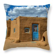 Turquoise Haven Throw Pillow