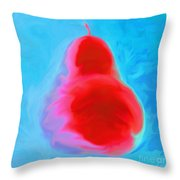 Turquoise Pearspective Throw Pillow