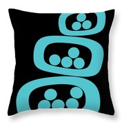 Turquoise Pods Throw Pillow