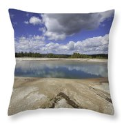 Turquoise Pool In Yellowstone National Park Throw Pillow