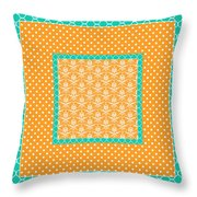 Turquoise Pumpkin Abstract Throw Pillow