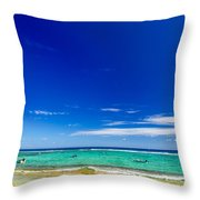 Turquoise Sea And Blue Sky Throw Pillow