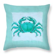 Turquoise Seashells I Throw Pillow