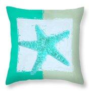 Turquoise Seashells Ix Throw Pillow by Lourry Legarde