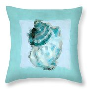 Turquoise Seashells Vi Throw Pillow by Lourry Legarde