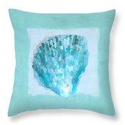 Turquoise Seashells Vii Throw Pillow by Lourry Legarde