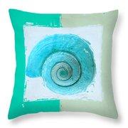 Turquoise Seashells X Throw Pillow