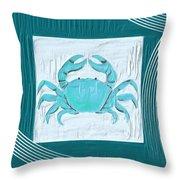 Turquoise Seashells Xix Throw Pillow