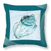 Turquoise Seashells Xxiv Throw Pillow