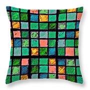 Turquoise Sudoku Throw Pillow