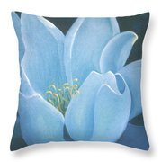Turquoise Waterlily Throw Pillow