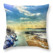 Turquoise Waters Throw Pillow