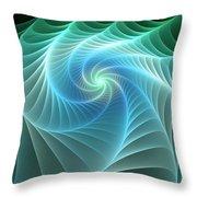 Turquoise Web Throw Pillow
