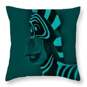Turquoise Zebra Throw Pillow