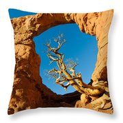 Turret Arch, Arches National Park Throw Pillow