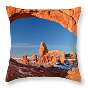 Turret Arch Frame Throw Pillow