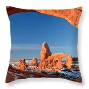 Turret In A Window Throw Pillow