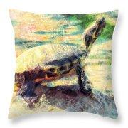 Turtle Brave Throw Pillow