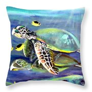Turtle Duo Throw Pillow
