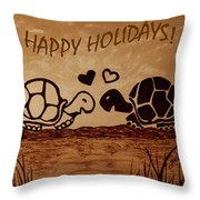 Turtle Greetings Throw Pillow