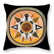 Turtle Mandala Throw Pillow
