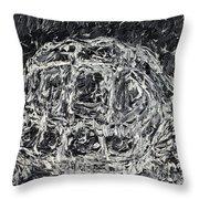 Turtle - Oil Portrait Throw Pillow