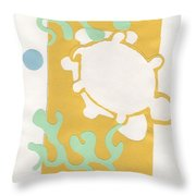 Turtle Pond Throw Pillow