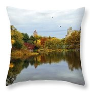 Turtle Pond - Central Park - Nyc Throw Pillow