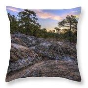 Turtle Rocks Atop Petit Jean Mountain - Arkansas Throw Pillow