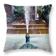Turtle Statue Throw Pillow
