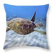 Turtle Underwater 3 Throw Pillow
