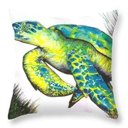 Turtle Wonder Throw Pillow