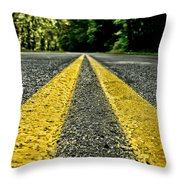 Turtle's View Of Forest Road E67 Throw Pillow