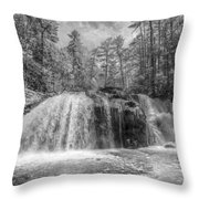 Turtletown Creek In Black And White Throw Pillow