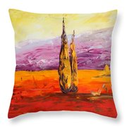 Tuscan Blast Crop Throw Pillow