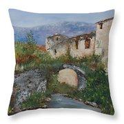 Tuscan Bridge Throw Pillow