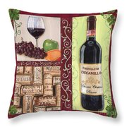 Tuscan Collage 2 Throw Pillow by Debbie DeWitt