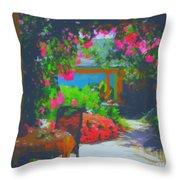Tuscan Courtyard Throw Pillow