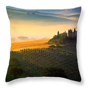 Tuscan Dawn Throw Pillow by Inge Johnsson