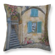 Tuscan Delight Throw Pillow by Mohamed Hirji